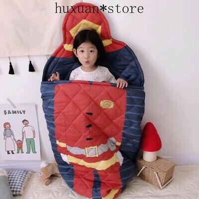 Bed Baby Sleeping Bag 100% Pure Cotton  Cartoon Kids Body 70*150cm 0-8 Year Old