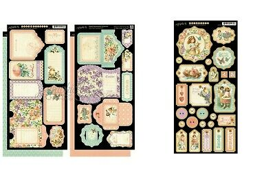 Graphic 45 SWEET SENTIMENTS Tags & Pockets AND Decorative Chipboard  **Retired**