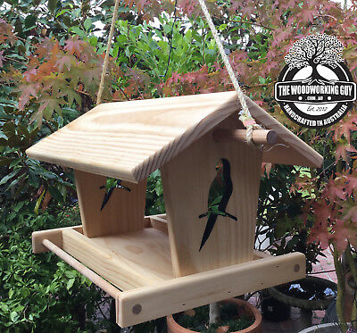 Native Bird Hanging Platform Bird Feeder - Wooden Garden Feeder - Christmas