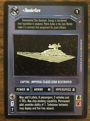 Star Wars CCG 2nd Second Anthology Thunderflare WB NrMint-Mint SWCCG