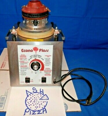 Econo floss 3017ss commercial cotton candy machine used no pan