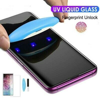 6D Liquid Screen Protector For Samsung Note10 9 8 S10 S9+ UV Glue Tempered Glass