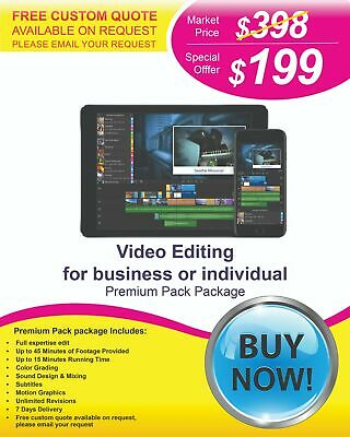 $199 - Professional Video Editing Services