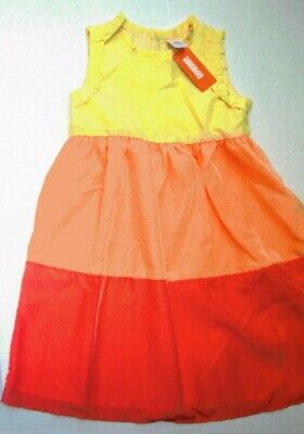 Gymboree Sunny Citrus Sleeveless Spring Floral Dress Size 7 8 MSRP $33 NWT