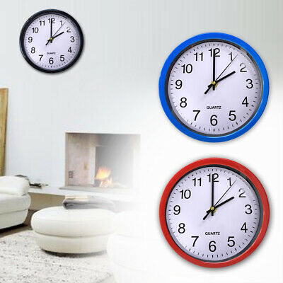 Quartz Silent Modern Home Battery Operated Plastic Time 8 Inch Round Wall Clock
