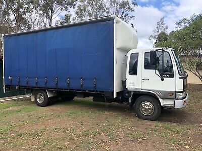 Hino, 1996 curtained sided truck