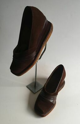 A very rare pair of French 1940's suede & leather platform wedges shoes zazou