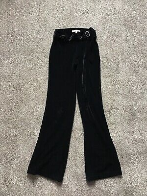 Marks & Spencer Autograph Girl Black cotton velour trousers Age 11