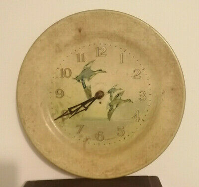 Preowned Retro Smiths 3 Flying Ducks Electric Wall Clock - Spares/Repairs 25.5cm