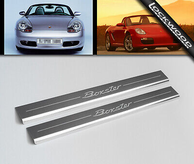 Porsche Boxster (986 & 987) Stainless Sill Protectors / Kick Plates