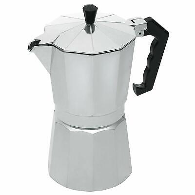 KitchenCraft Le'Xpress Stovetop Espresso Maker 9 Cups Silver