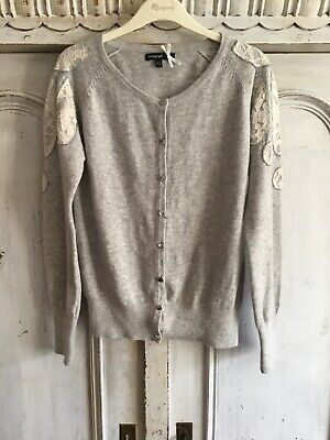 M&S Autograph Grey Girls Cardigan With Appliqué & Sequins, Age 10 To 11 Years