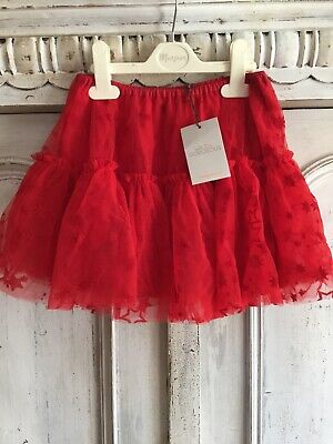 Wild & Gorgeous Girls Red Star Frill Tutu Skirt, Party, Christmas Age 8-9 BNWT