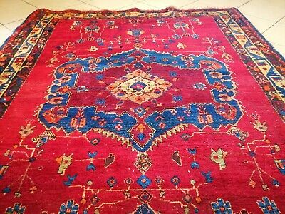 Traditional Pers wool hand knotted carpet rug 155 x 203 cm size