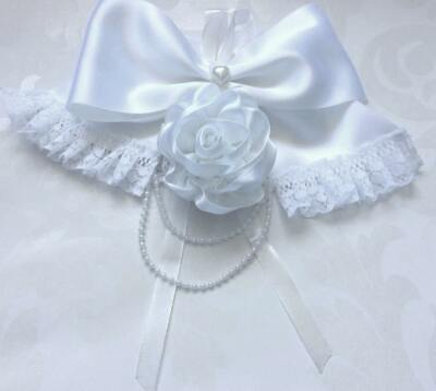 Christmas wrapping ideas white bow Hair clip lace trim,