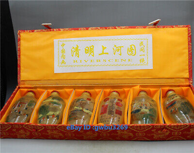Exquisite Chinese Glass Handwork Inside Hand-painting landscape Snuff bottle