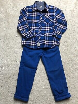 Boys Timberland Shirt And Trousers