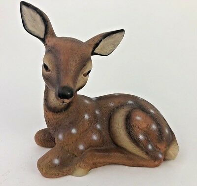 Baby Deer Fawn Bisque Porcelain Hand Painted Music Box Figurine MSR Imports