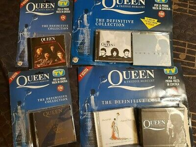 Queen & Freddie Mercury The Definitive Collection 4 CD Box-set Italy Very Rare