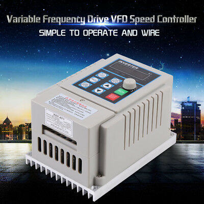 0.75kW 220V Variable Frequency Drive VFD Speed Control Inverter Single Phrase