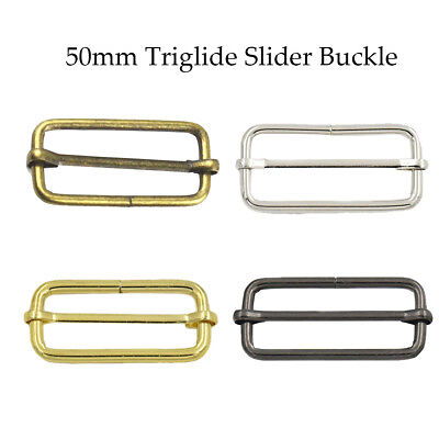 Metal Sliding Bar Buckle Strap Tri-Glides Wire-Formed Luggage Accessories 50mm