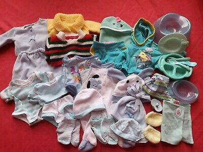 """Bundle Baby Born 18"""" doll clothes shoes toys blankets outfits potty Boy"""