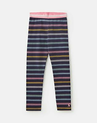 Joules Girls Glitzy Luxe Shine Waistband Legging 1 12 Years - NAVY MULTI STRIPE