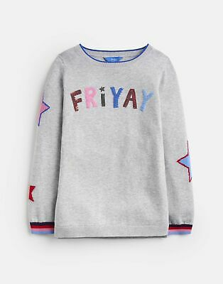 Joules Girls Miranda Intarsia Jumper 3 12 Years in GREY FRIYAY