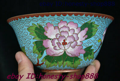 Collect Old Exquisite China Bronze Cloisonne Enamel Flower Bowl Cup Plate Teacup