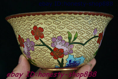 Antique Old Chinese Bronze Cloisonne Enamel Flower Bowl Cup Plate Teacup Statue