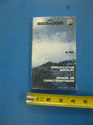 Sea-Doo Specification Manual 2007 2011 4-TEC