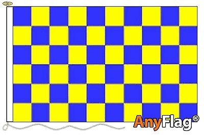 Blue And Yellow Check Anyflag Made To Order Various Flag Sizes Eyelets