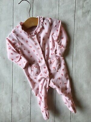 Baby Girl's Clothes Newborn - Cute Frilly Floral Sleepsuit/Babygro First Size 🐙