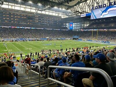 Detroit Lions vs. Tampa Bay 2 tickets 12/15/2019 Lower level Sec. 124