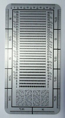 Czech New Metal Stamp Perforation Gauge In 1/4 Units - Double Sided Watermark