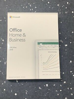 Microsoft Office Home and Business 2019 For 1 PC/Mac - Genuine / New & Sealed.