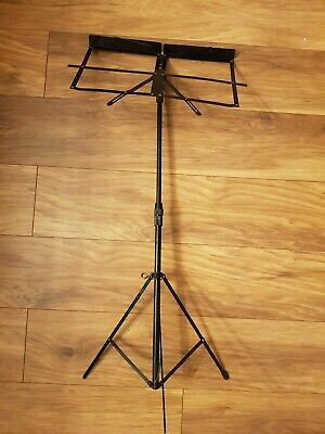 Black Orchestral Sheet Music Stand With Height and Angle Adjustment
