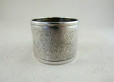 Antique Solid Silver LARGE NAPKIN RING  Hallmarked:-LONDON 1908
