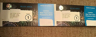 London New Years Eve 2019/20 Blue Area Fireworks 2 Tickets for Entrance 1