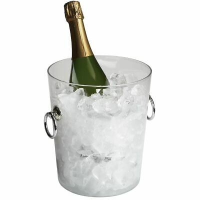Cambro WC100CW135 Clear Camwear Wine Bucket with Handles