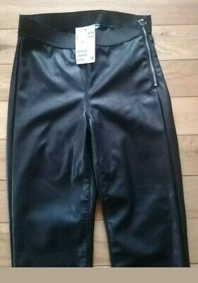 H&M Faux leather trousers size 8 new with tags