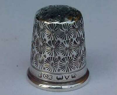 Antique Silver Charles Horner Thimble Chester 1909