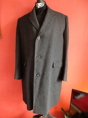 Tailored by Simon for David Morgan Men's Vintage Peaky Blinders Overcoat Size 44