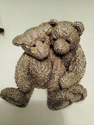 Large Sterling Silver Weighted Teddy Bear figure.