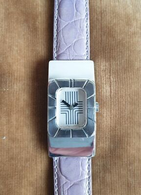 Rare large size 1970's Mid Century Lanvin Silver wristwatch  watch manual wind