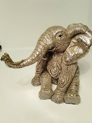 Large Solid Sterling Silver Weighted Elephant Figure