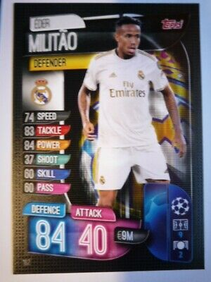 Topps Match Attax 2019/20 Real Madrid Militao Card Comb P&P