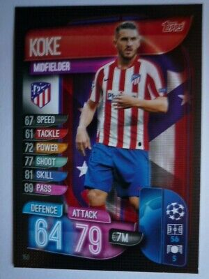 Topps Match Attax 2019/20 Athletico Madrid Koke Card Comb P&P