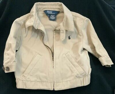 Polo By Ralph Lauren    jacket 12m Boys Tan Infant Baby Classy Cute!