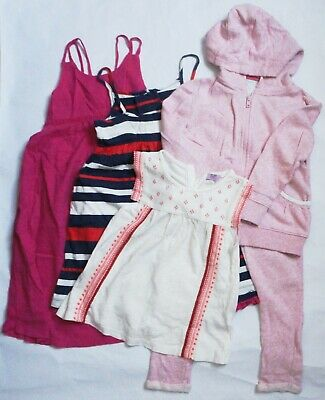 OLD NAVY/BABY GAP/F&F White/Pink/Stripe Bundle of Clothes X5 Girls 4-5 Years